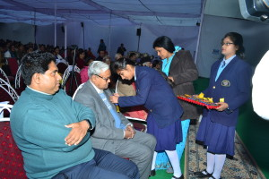 Welcome of Chief Guest and other dignitaries
