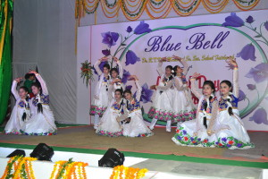 "Dance by the girls of class IX & X on the theme ""Save the girl child""..( O re chirraiyya..)"